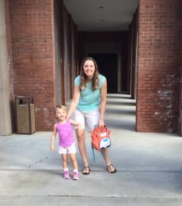 In front of school.